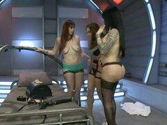 Shemale con un malvado trío con dos chicas traviesas - Bella Rossi, TS Foxxy