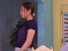 Chica japonesa mejor Minori Hatsune en JAV cachonda censurado tetonas, peluda escena