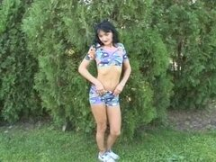 Flaca madura striptease fuera