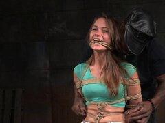 ¿La chica dulce Kacy Lane encargará de tal tratamiento áspero de la esclavitud? -Kacy Lane, martillo de gato