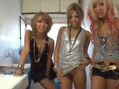 Grupo de japoneses de Rubia cachonda